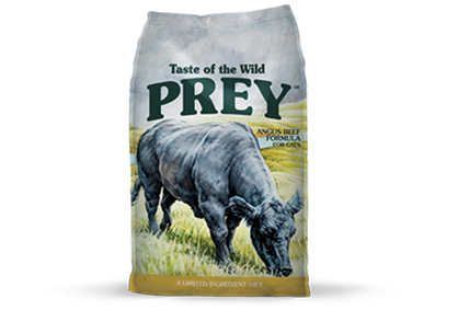 טייסט אוף דה ווילד Prey - בקר אנגוס Pray Angus Beef Limited Ingredient Formula package photo