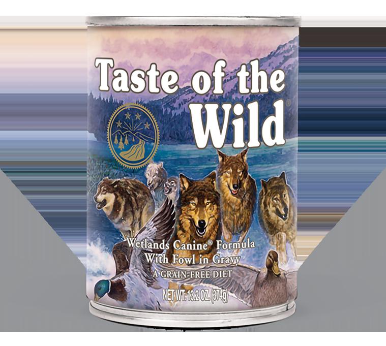 טייסט אוף דה ווילד ווטלנד – בשר ברווז בר טרי ברוטב Wetlands Canine in Gravy package photo